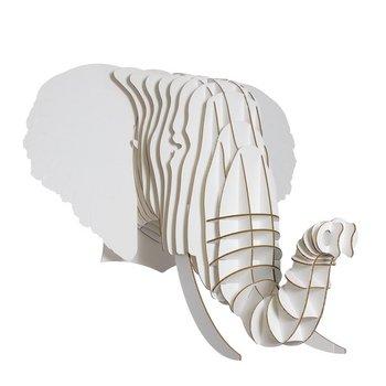 Cardboard Safari |段ボールElephant Taxidermyアート3dモデルパズル| SFI認定100 % Recycled cardboard| Made in the USA | Eyan S ホワイト CBS1030W B004WJBZTU Small|ホワイト ホワイト Small