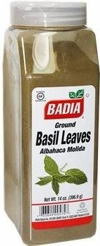 Badia Basil Leaves Ground 14 oz