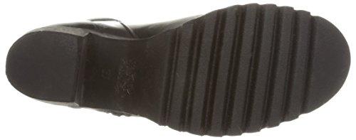 BUNKER Booty - botas de cuero mujer negro - Schwarz (ANTIC BLACK)