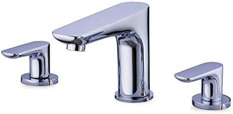 飲料水フィルタータップクロームスプリット3穴ダブルハンドルバスルームシンクタップ