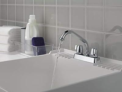 Peerless 2-Handle Centerset Utility Sink Faucet, Chrome P299232