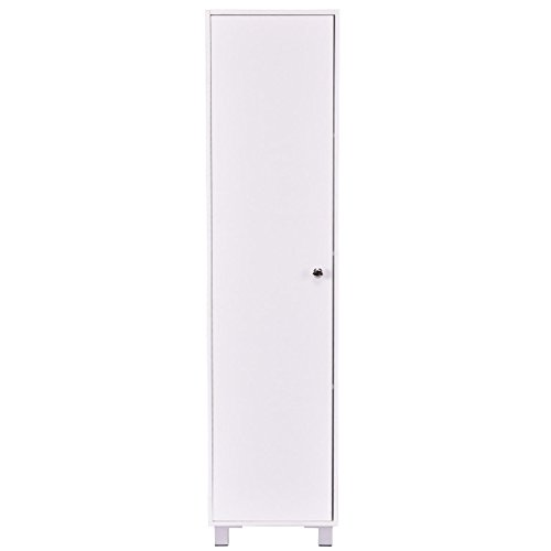 White Single Door Storage Cabinet Locker Organizer 60
