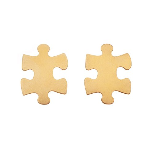 Beadaholique Brass Stamping, Small Blank Puzzle Piece 20.7x15.5x0.5mm, 2 Pieces, Brass ()