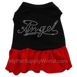 Dog Supplies Rhinestone Angel Dress Black With Red Lg (14), My Pet Supplies