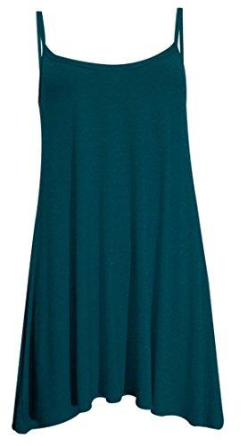 Girls Walk Women's Plain Plus Size Casual Flared Cami Strappy Swing Dress (Strappy Dress Girls)