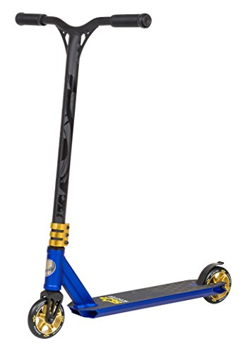 STAR-SCOOTER® Original Pro Sport Complete Leight Weight Stunt Scooter for Adults, Teenager and for Kids over 7 years | For Beginners up to Advanced Skill Riders with Alloy Wheels 110mm | Blue & Gold