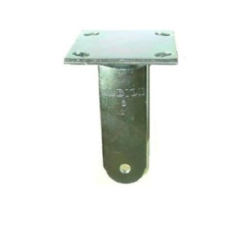 Made in USA 16 Series Rigid Caster Fork for 8'' x 2'' Wheel with 4'' x 4 1/2'' Plate