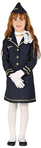 Girls Pilot Aviator Cabin Crew World Book Day Week Occupation Job Fancy Dress Costume Outfit 3-12 Years (3-4 years) -