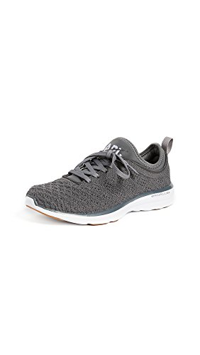 APL: Athletic Propulsion Labs Women's Techloom Phantom Sneakers, Gunmetal/White/Gum, 6 B(M) US