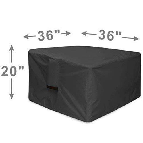 RUANMU Funda Muebles Cubierta De Muebles, Negro Cubo Poliéster Cubierta De La Barbacoa/Cubierta De Tabla Brasero,...