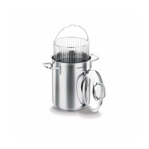 Korkmaz Perla Vaporera para espárragos/vegetales Steamer/Crustáceos Vaporizador Juego de cazuelas (Acero Inoxidable 18/10,...