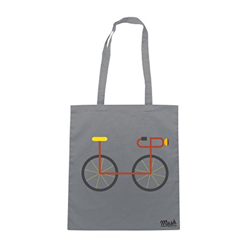 Borsa GRAPHIC CYCLE - Grigio - DIVERTENTE by Mush Dress Your Style