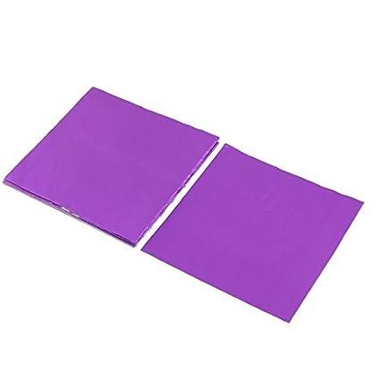 Envolturas de chocolate eDealMax papel de aluminio desechables para hornear magdalenas caramelo de papel de aluminio