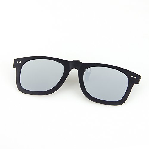 (Cyxus Polarized UV Blocking Sunglasses Clip On Anti Glare Sliver Lens)