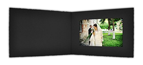 Golden State Art, Cardboard Photo Folder For a 6x4 Photo (Pack of 50) PF055 Black Color (Black)