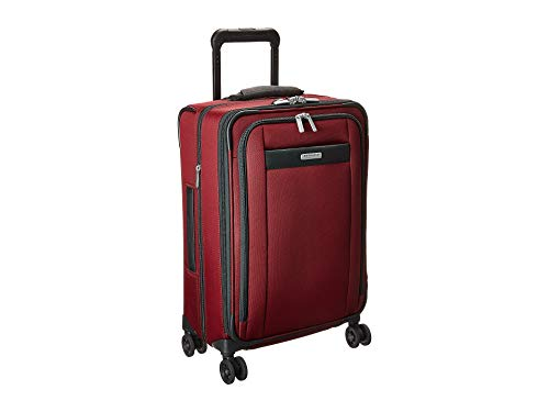 Briggs & Riley Tall Carry-On Zip Expandable Spinner, Merlot Briggs & Riley Wrinkle Free Carry On