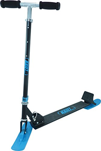 RAILZ Full-Adult Size Recreational Snow Kick Scooter - Black & Blue, Best Adult Compact Kick SnowScooter, Best Winter Toys Christmas Gift, Sled, Scoot, Fold-up, - Compact Kickboard Black