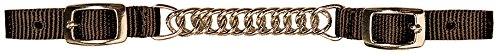 Weaver Leather Nylon Curb Strap with Flat Link Chain, Brown