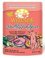 Wellness Pouch Cat Salmon & Tuna 3 oz 24 Pack by WellPet LLC [Pet Supplies]