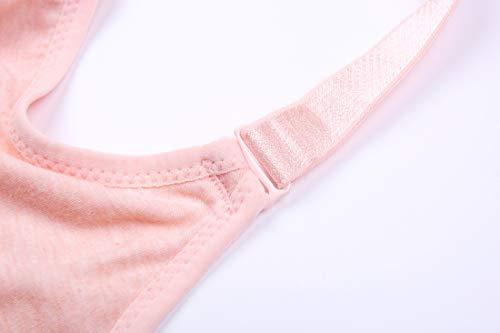 Pink Kairuigeli Ring Double No bra piece trace Underwear One Steel Ddjustable button Nursing No rnrqaROw