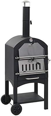 ghuanton Horno de Pizza Exterior carbón de Arcilla refractaria ...