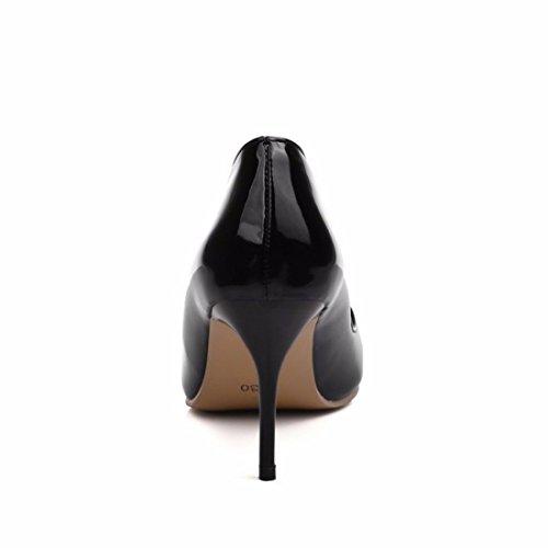 Tacones Black Zapatos Tacón Altos Grandes Señoras Zapatos Zapatos Zapatos de wxIvSqq1
