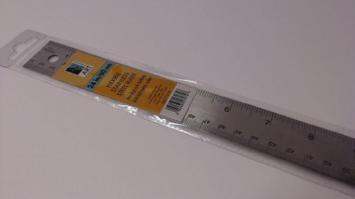 Art Alternatives Stainless Steel Corkback Ruler 24 (Art Rulers)