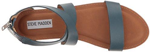 Steve Madden Womens Halley Flat Sandal Blue Leather