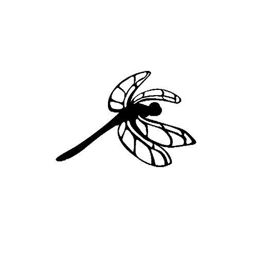 SHMAZ 14.2 Cm * 9.7 Cm Schitterende Ongewoon Dragonfly Mooie Decal Leuke Auto Sticker Zwart/Zilver