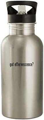 got effervescence? - 20oz Stainless Steel Water Bottle, Silver