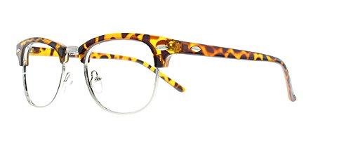 EyeBuyExpress Bifocal Glasses Mens Womens Retro Animal Print Quarter Rim - Prescription Print Animal Eyeglasses
