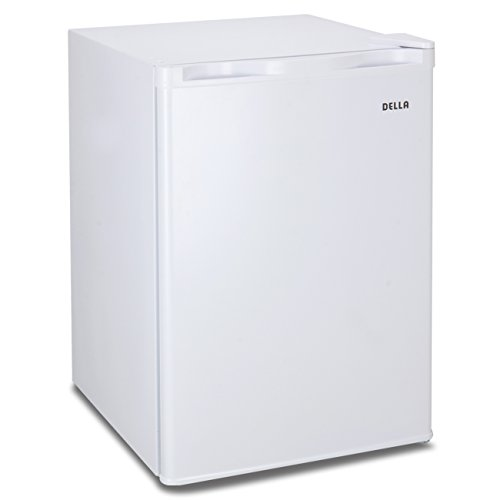 Della Compact Refrigerator and Freezer With Single Door Cooler Fridge, 2.6 Cubic Feet,Unit (White)