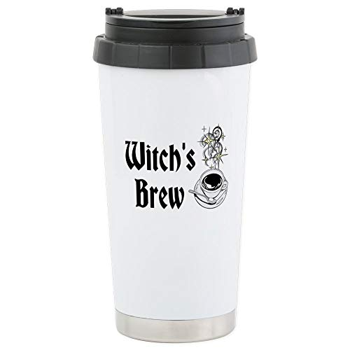 CafePress Witch's Brew Travel Cup Stainless Steel Travel Mug, Insulated 16 oz. Coffee -