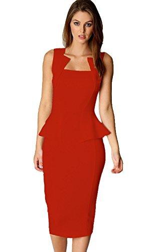 Made2envy - Vestido para mujer con cuello de corte cuadrado: Amazon.es: Ropa y accesorios