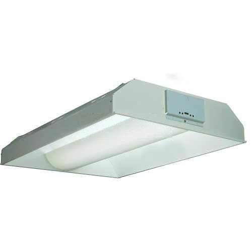 Compact Fluorescent w/Grid Trim, 2 Lamps, 40W, Metal Diffuser w/Round Holes ()