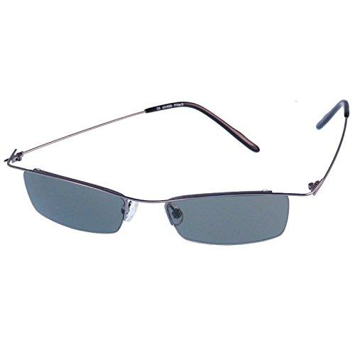 de sol delgada UV Net los Chic estrecha superior sin Verde metálica 400 gafas de tintado marco hombres Deporte 6RwOUw