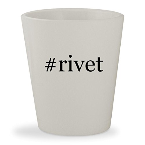 Price comparison product image #rivet - White Hashtag Ceramic 1.5oz Shot Glass