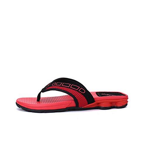 27 uomo Sandalo Melodycp da Pantaloncini da estivi antiscivolo da impermeabili spiaggia da in Sandali uomoCasual cm 25 Rosso uomo e pelle 5 rFYq8UwF
