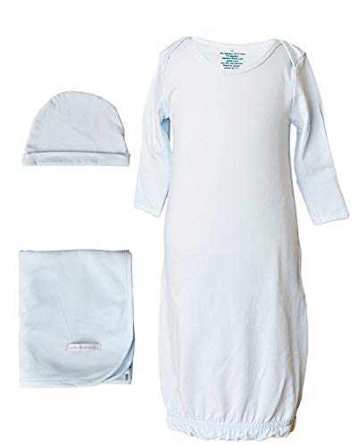 One Small Child Boys Three-Piece Bamboo Layette Set (0-3 Months, Blue)