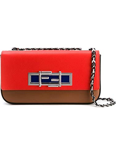 Fendi Women's 8Br7635r1f0x98-Mcf Red Leather Shoulder Bag