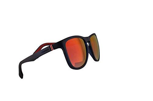 Carrera 5050/S Sunglasses Matte Blue w/Red Mirror Lens 56mm IPQUZ CA5050/S 5050S (Carrera Sunglasses Men 56)
