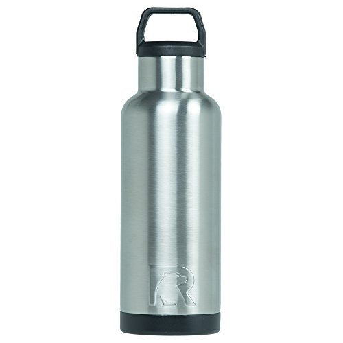RTIC Double Wall Vacuum Insulated Stainless Steel Leak Proof Sports Water Bottle, Standard Mouth with BPA Free Cap (Stainless Steel, 16oz)