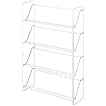 Amazon.com: YAMAZAKI Home 2391 Slim Shoe Rack, White: Home U0026 Kitchen