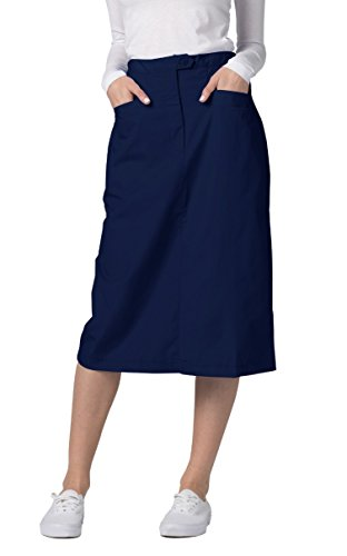 Adar Universal Mid-Calf Length Angle Pocket Skirt - 706 - Navy - Size 6
