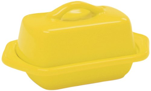 Chantal 93-TVBD2-1 YC Mini Butter Dish, Canary (Forte Butter)