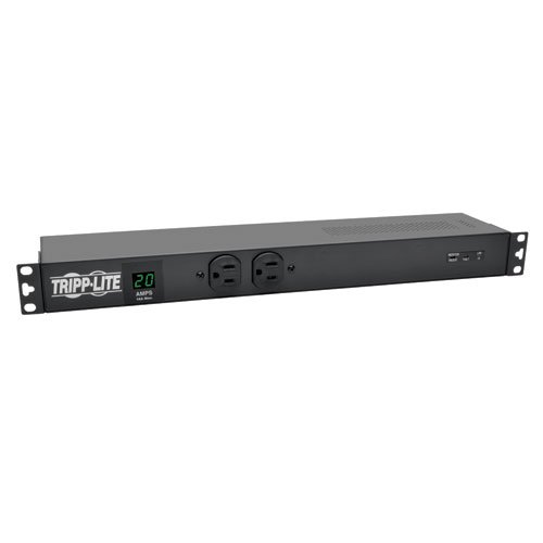 Tripp Lite Metered PDU, 20A, Isobar Surge Suppression 3840 Joules, (12 5-20R, 2 5-15R), 120V, L5-20P/5-20P, 1U Rack-Mount Power (PDUMH20-ISO) by Tripp Lite