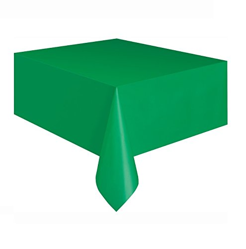 "Emerald Green Plastic Table Cover, 108"" x 54"