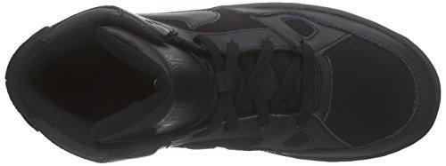 Nike Son of Force Mid (PS), Zapatillas de Baloncesto para Niños Negro (Black / Black-Black)