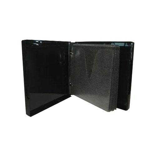 (50) Black 12-Disc Capacity CD DVD 2-Ring Album Wallet Book Storage CDBR2412BK (UniKeep Style)