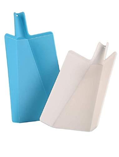 Slap Chop Folding Plastic Cutting Board - Chopping Board Kitchen Prep Mat | 11 inch x 7 inch | Non Slip Surface | Dishwasher Safe | (Set of 2) (Chop To Pot Cutting Board)